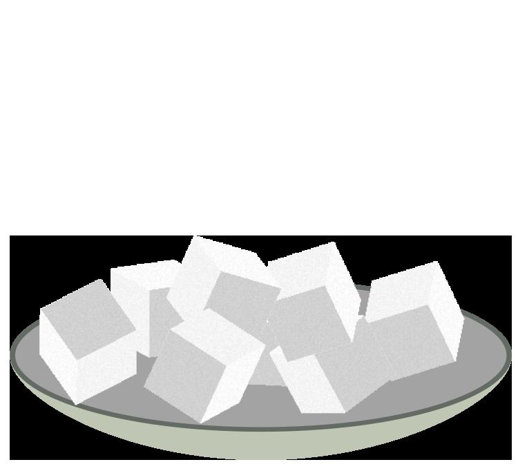 角砂糖のイラスト