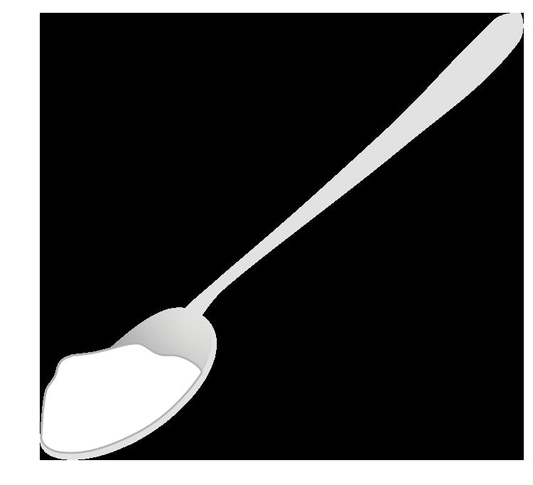 スプーンと砂糖のイラスト