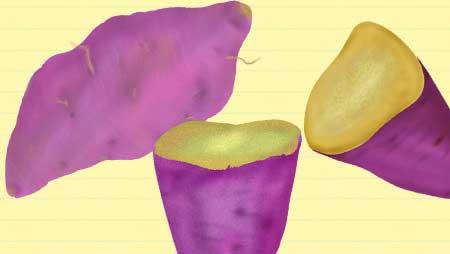 さつまいもイラスト - おいしそうな焼き芋無料素材集