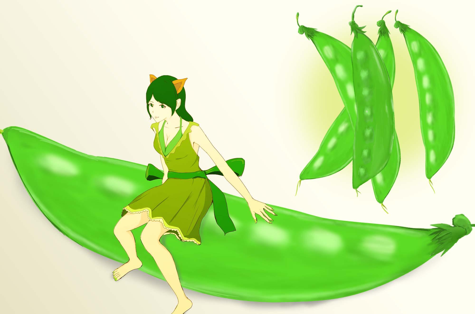 さやえんどうのイラスト - 可愛い豆のフリー素材集