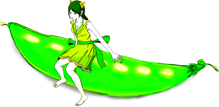 さやえんどうの妖精イラスト