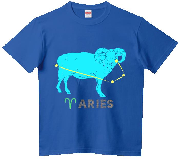牡羊座(おひつじ)Tシャツ