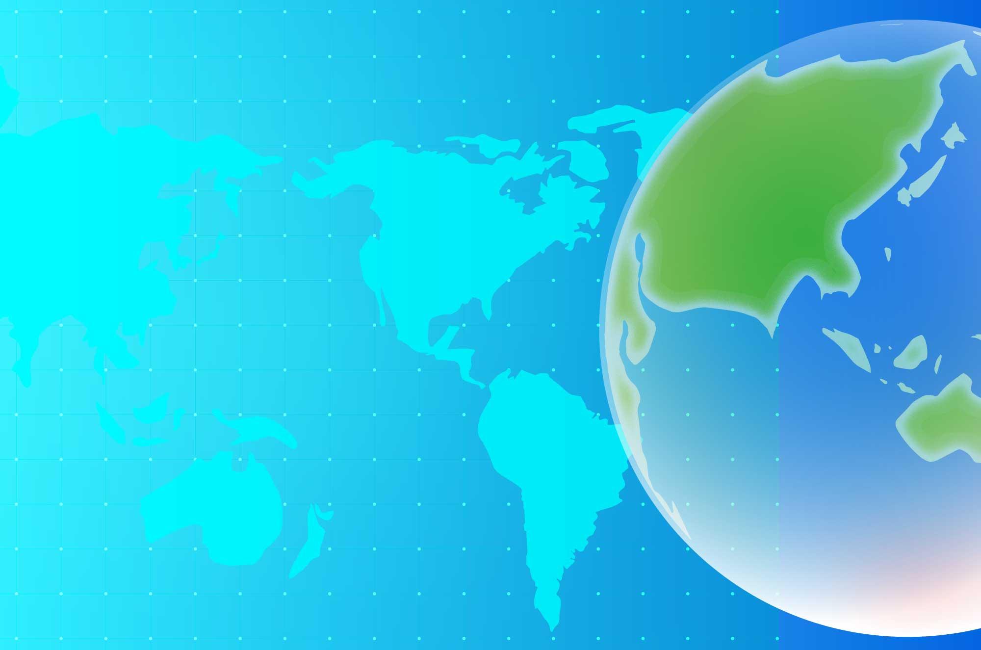 世界地図の-フリーイラスト - 地図・マップ素材