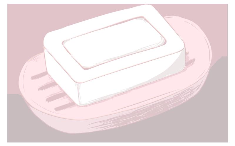 リアルな石鹸のイラスト