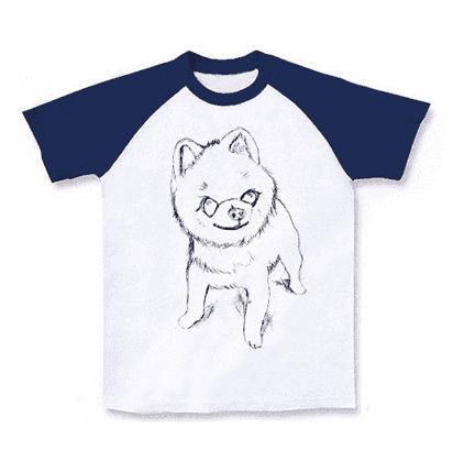 ポメラニアン手描きTシャツ