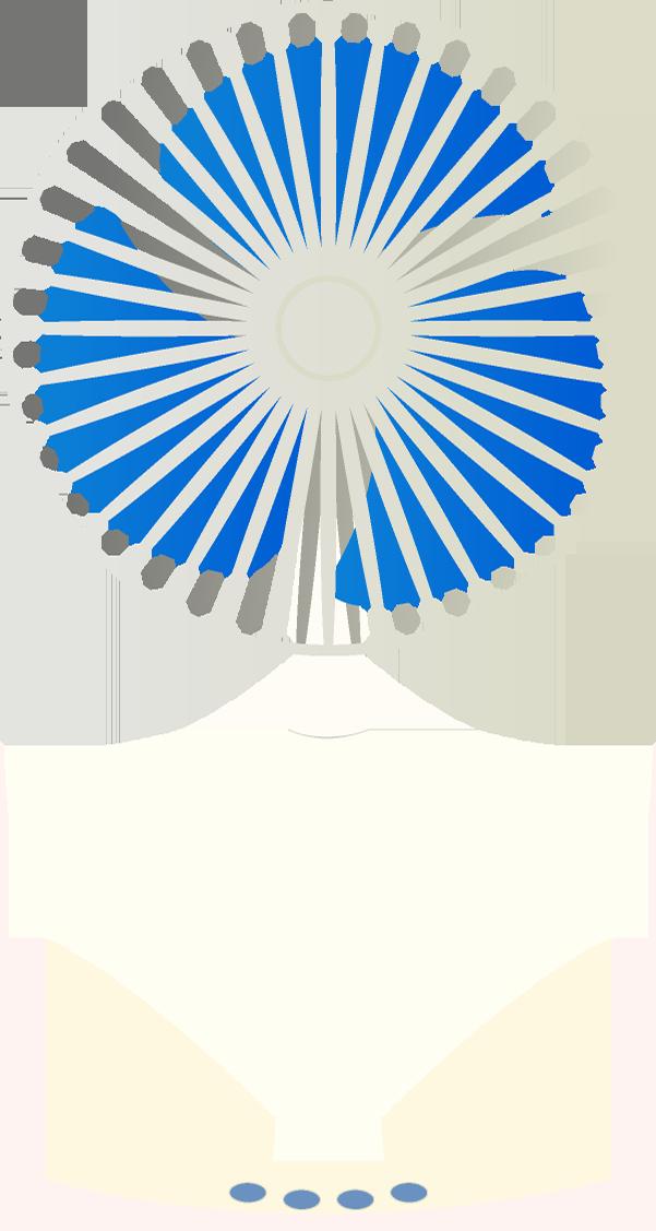 扇風機のイラスト(白・正面)