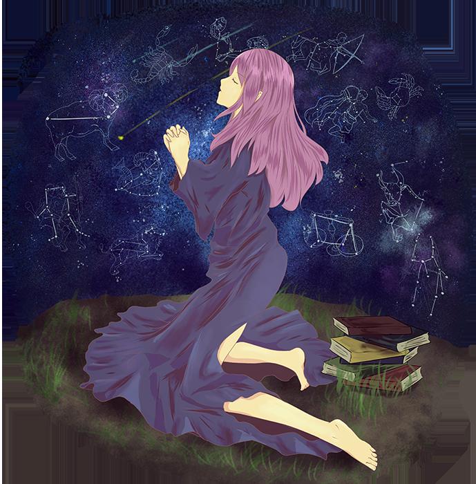 可愛い占星術師のイラスト