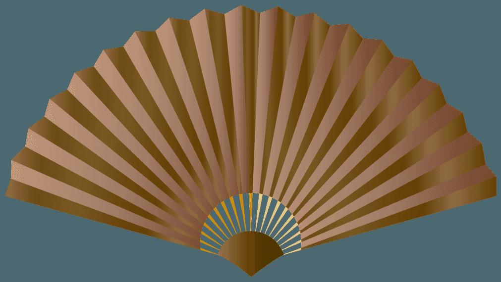 茶色の扇子のイラスト