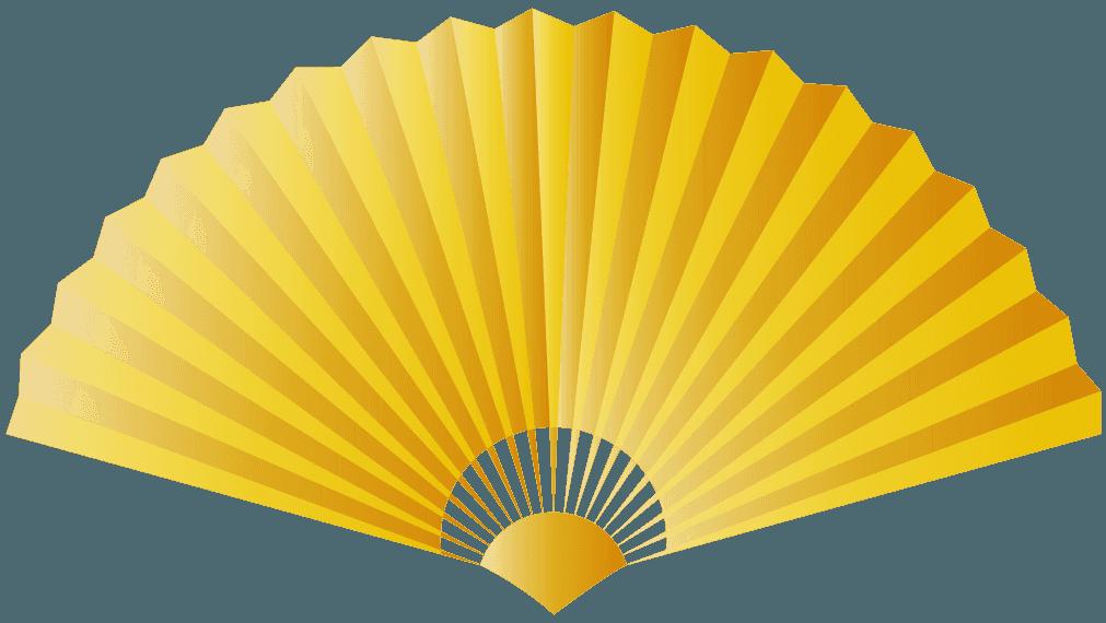 黄金の扇子のイラスト