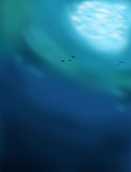 深海の風景イラスト