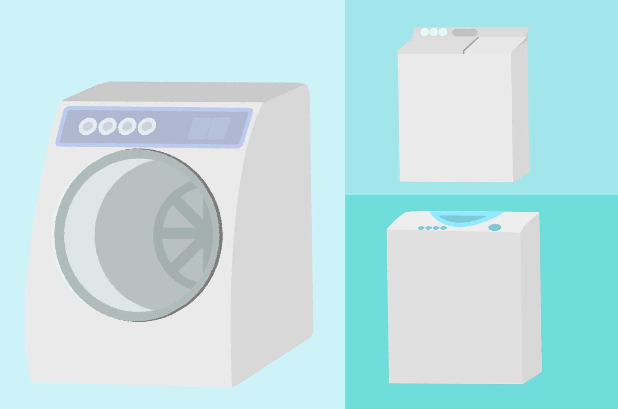 可愛い洗濯機のフリーイラスト - 無料の家電品素材