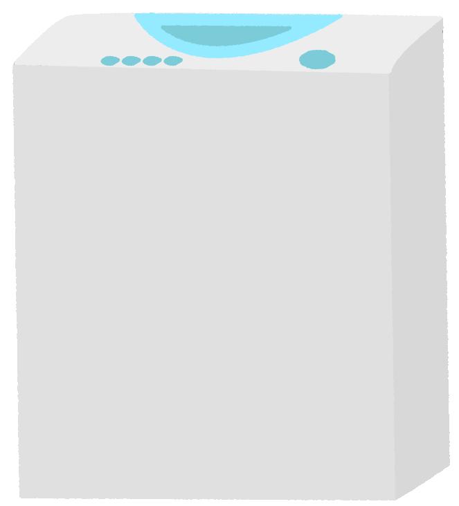 一層式洗濯機のイラスト