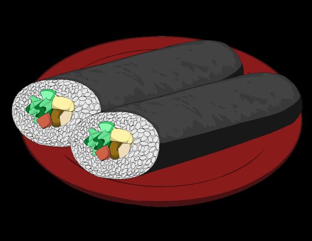 恵方巻の福豆のイラスト