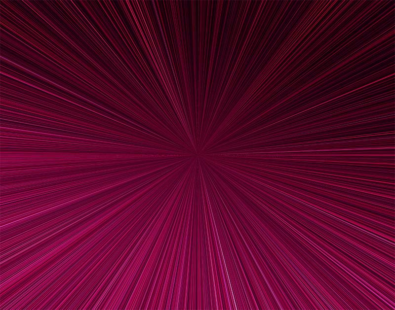 先進的な集中線のイラスト(赤)