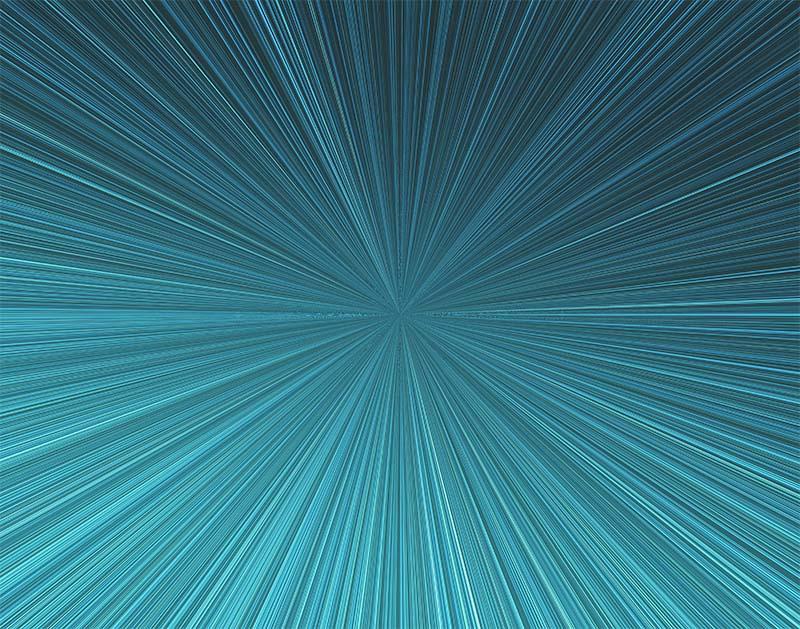 先進的な集中線のイラスト(青)