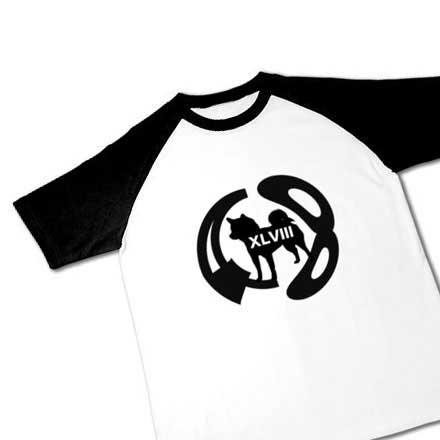 ラグラン柴犬48ロゴTシャツ