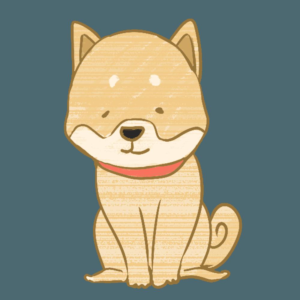 おすわりする柴犬イラスト