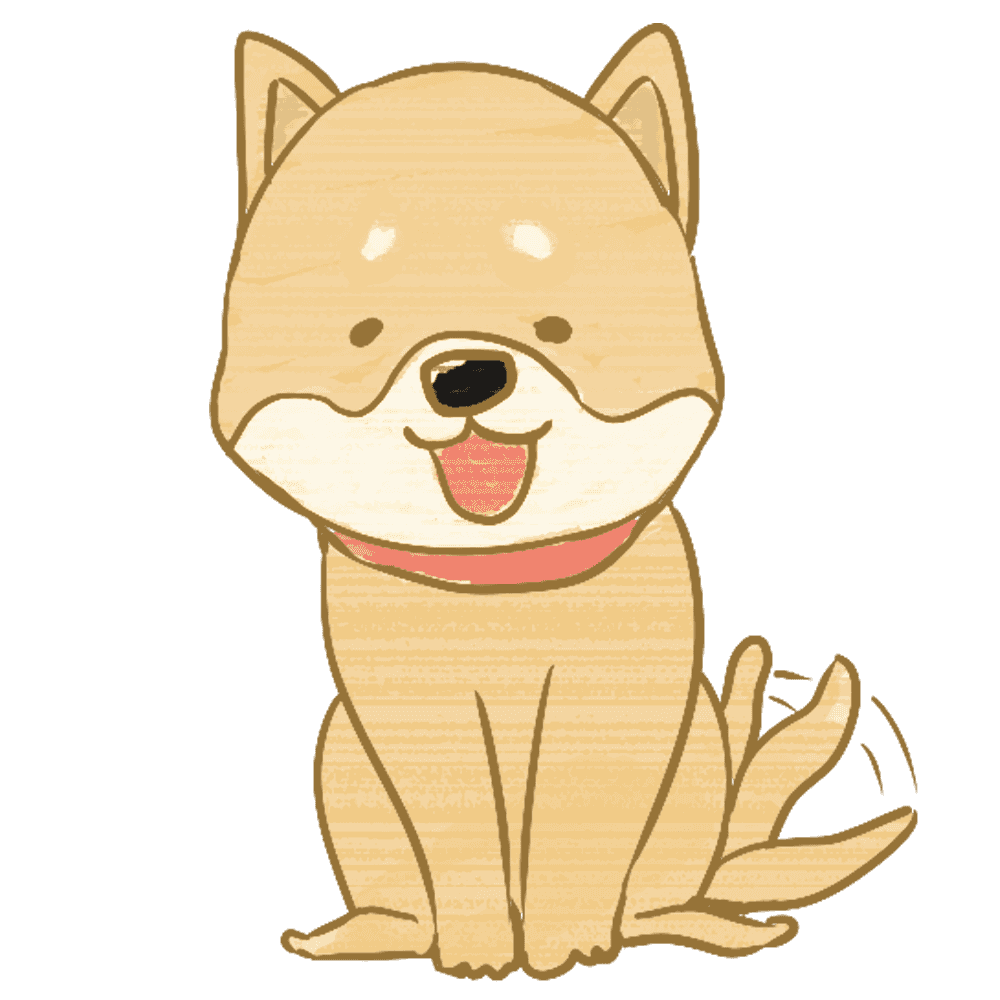 喜んでしっぽを振る柴犬イラスト
