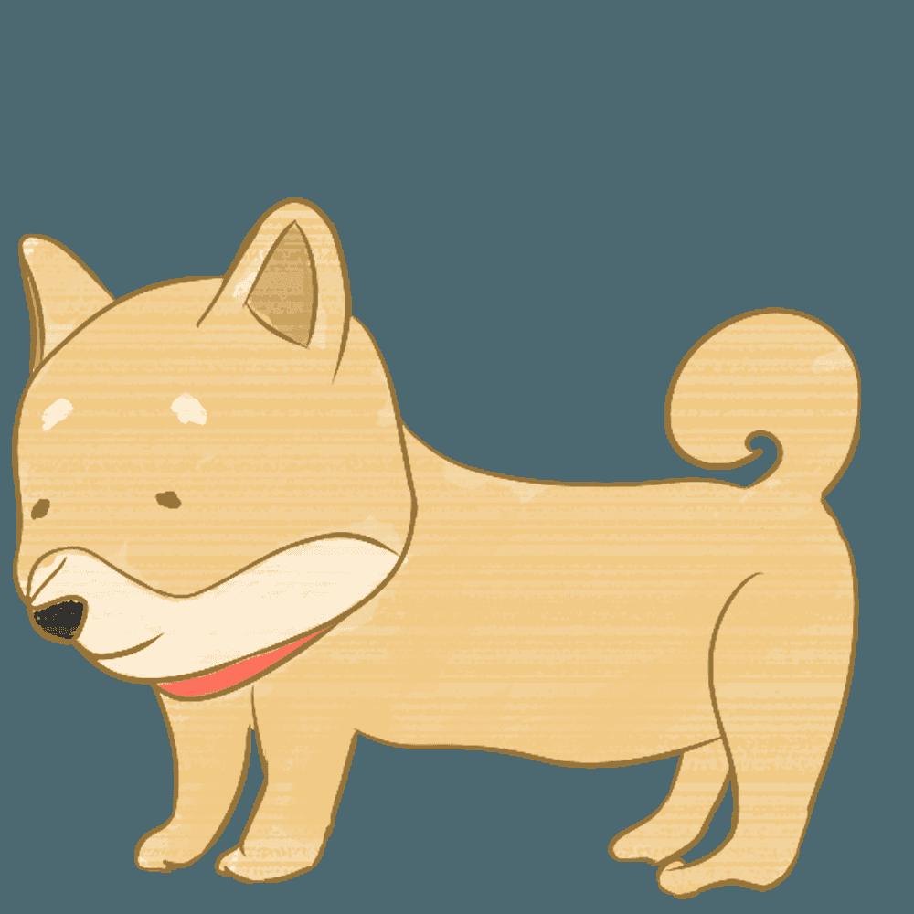 柴犬のシバチャンのイラスト