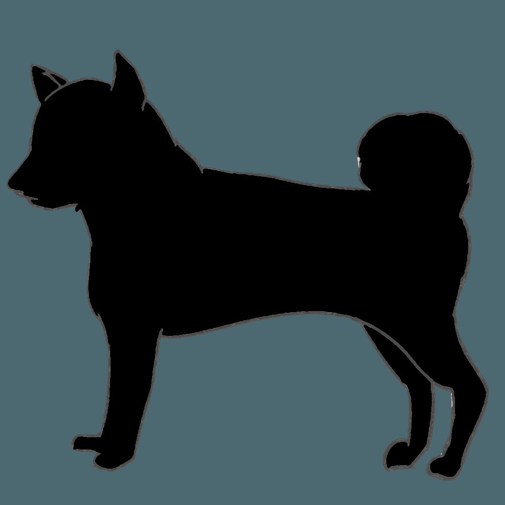 柴犬のシルエット