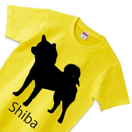 柴犬Tシャツ - かっこいい犬のシルエットT