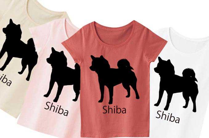 柴犬レディースTシャツ