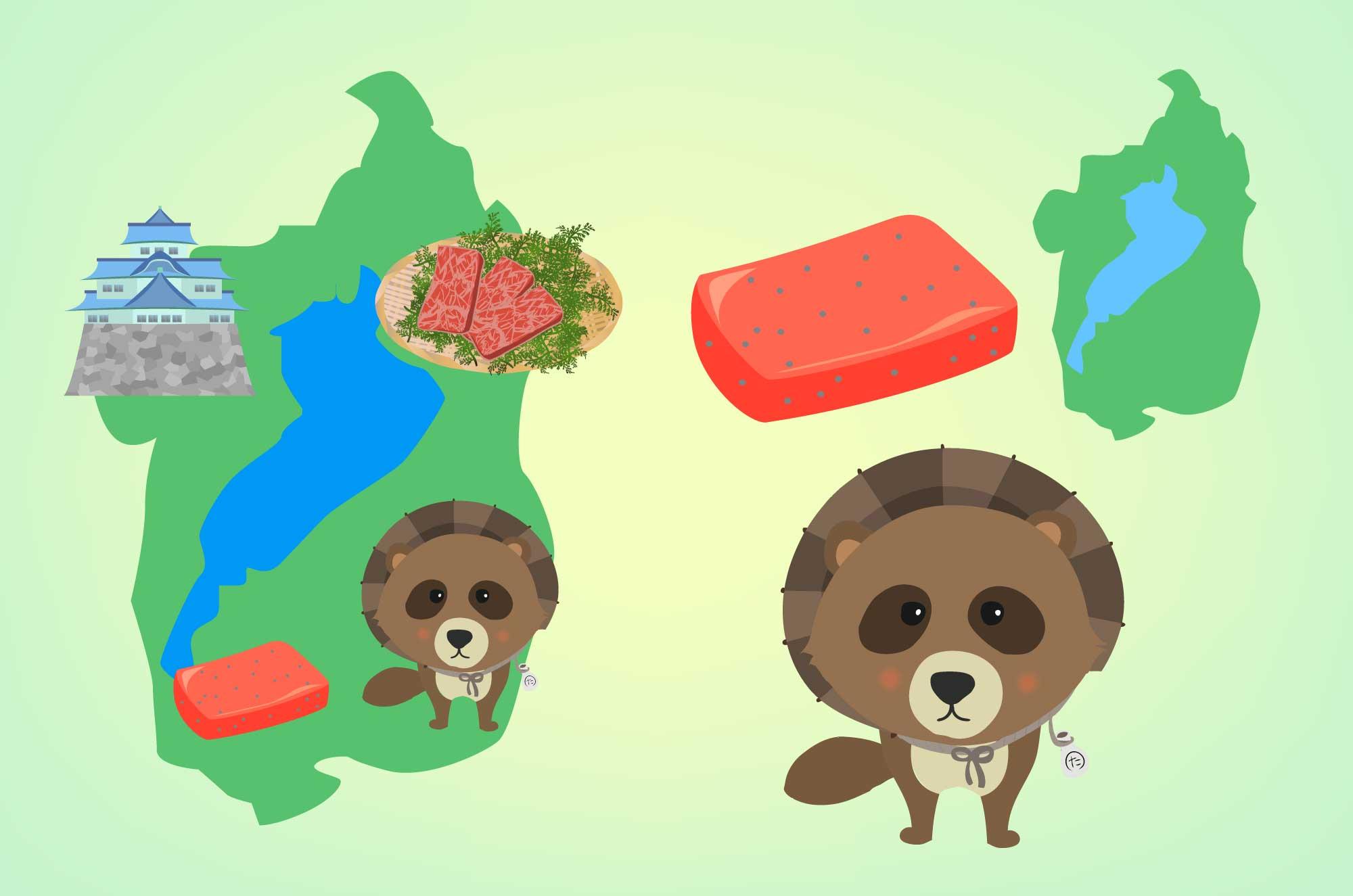 滋賀のイラスト - 琵琶湖や地形マップの無料素材