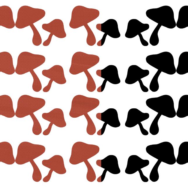 キノコ背景パターン
