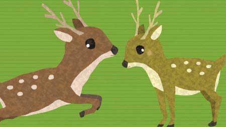 鹿イラスト - 親子で可愛い手書きの動物無料素材