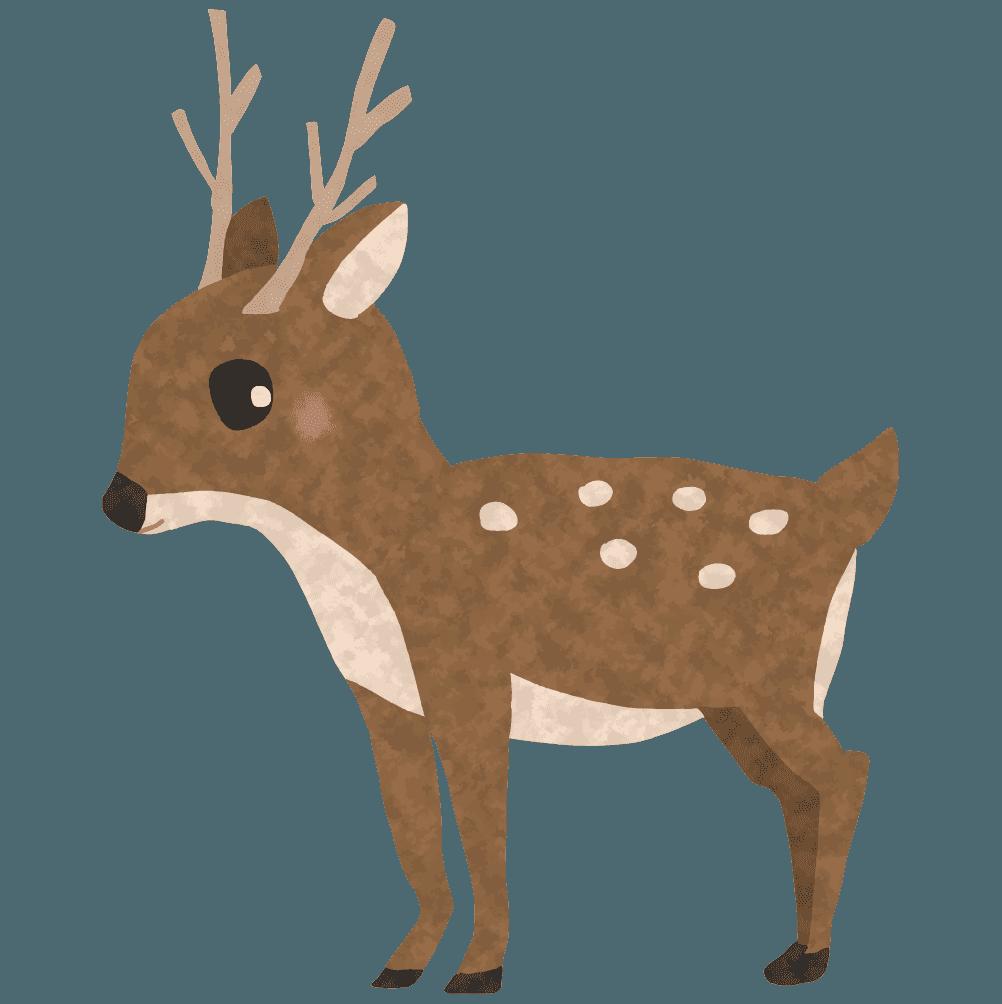 可愛い鹿イラスト