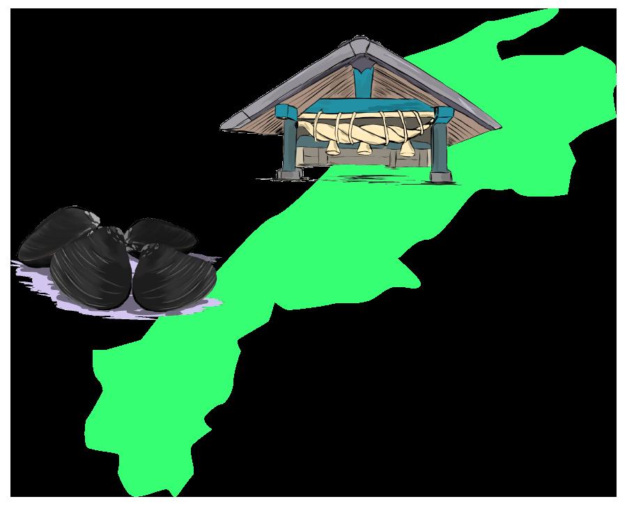 島根と名物・名産の挿絵イラスト
