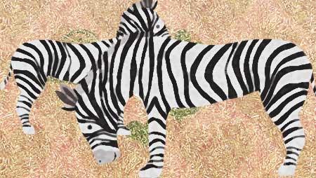 シマウマイラスト素材 - フリーで使えるかわいい動物素材