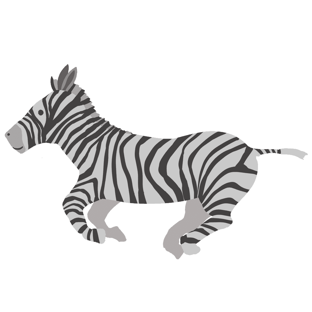 シマウマイラスト素材 - フリーで使えるかわいい動物素材 - チコデザ