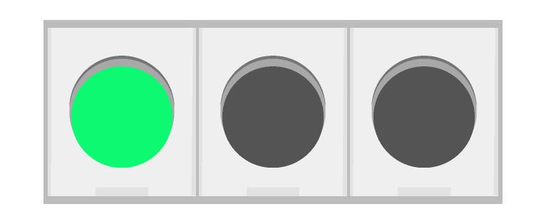車の信号機(青)