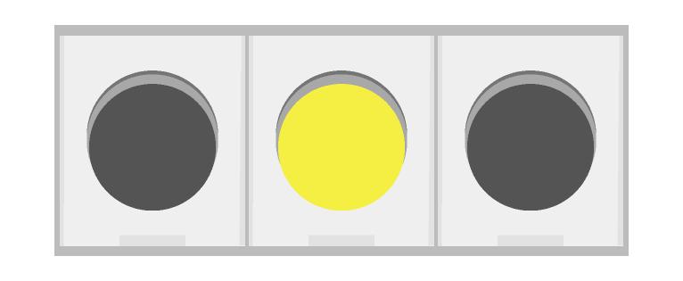 車の信号機(黄)