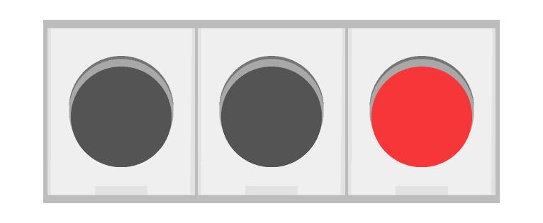 車の信号機(赤)