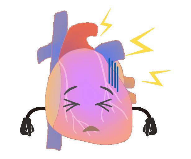 調子の悪い心臓のイラスト