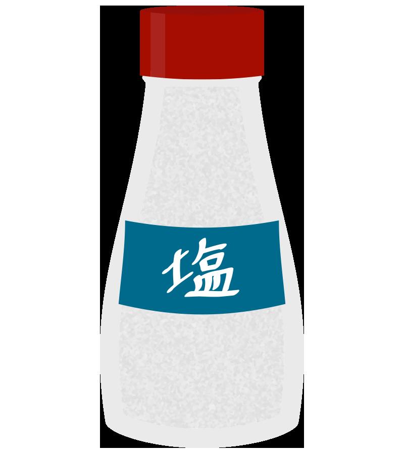 小瓶に入った塩のイラスト