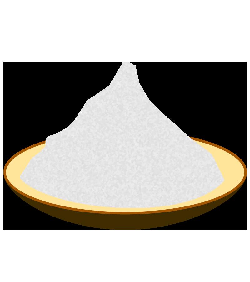 皿に盛られた塩のイラスト