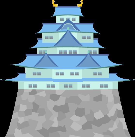 和風のお城のイラスト