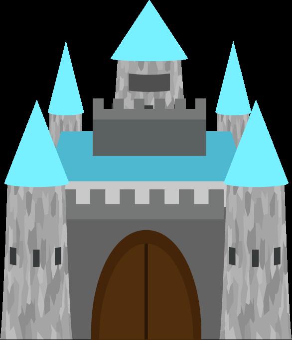 洋風のお城のイラスト