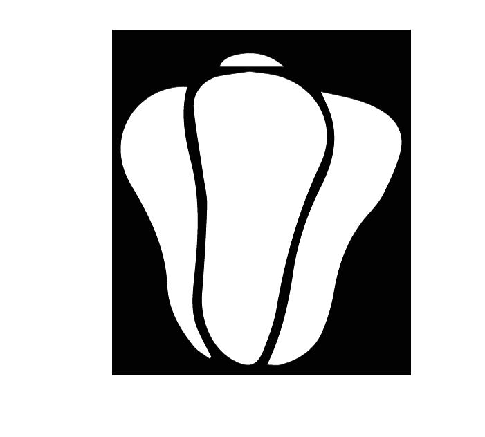 ピーマンの白黒イラスト