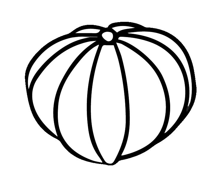 かぼちゃの白黒イラスト