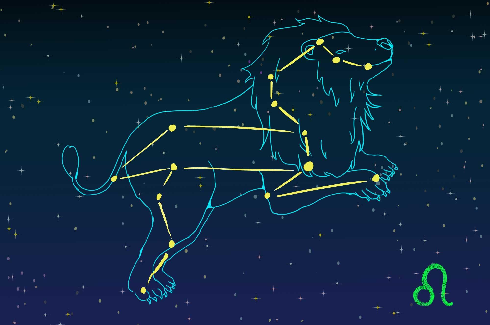 獅子座のイラスト - かっこいい星座の無料素材