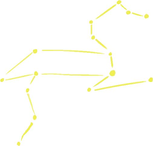 獅子座の星図イラスト