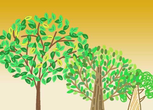 可愛い木のイラスト