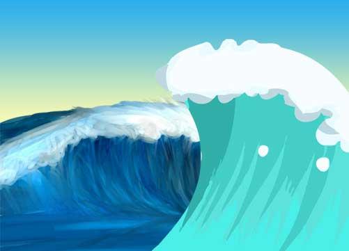 波のイラスト