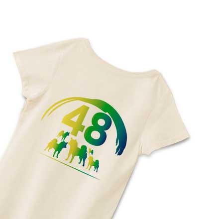 レディースナチュラルバックプリント48Tシャツ