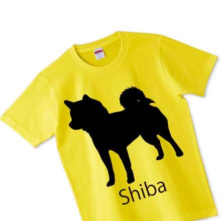 イエローボディーの柴犬Tシャツ(ノーマルタイプ)