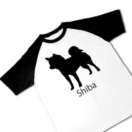 ラグラン半袖柴犬Tシャツ